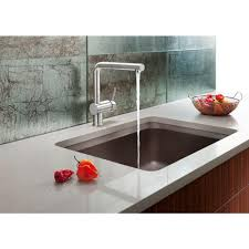 alta compact pullout sprayer kitchen faucet in chrome blanco