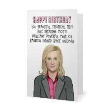 parks and rec leslie knope birthday card by exgirlfriendscards