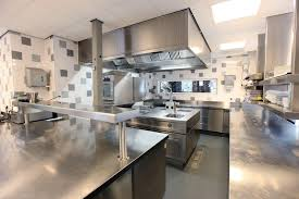 restaurant kitchen tile walls tile floor floor drain kitchens