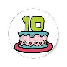 10 year old birthday cake classic round sticker zazzle com