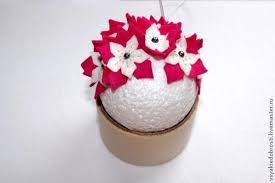 creative ideas diy felt flower ornament
