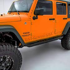 jeep wrangler 4 door orange amazon com gsi black textured body side armor rocker guard rock