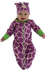 Baby Bunting Halloween Costumes Purple Giraffe Bunting U0026 Cap Sozo Usa