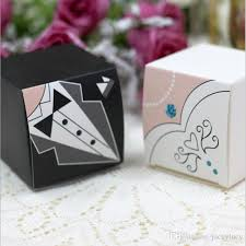 and groom favor boxes hot sale exquisite the and groom suits square paper box with