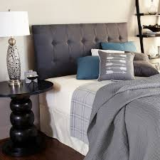 Cushioned Headboards For Beds Humble Haute Stratton Charcoal Upholstered Headboard Free