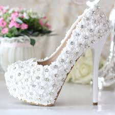 wedding shoes bridal genuine leather luxury rhinestone bridal shoes white ultra