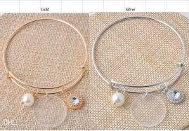 personalized charms bulk bulk wholesale 25mm clear acrylic disc 8mm pearl charm bracelet