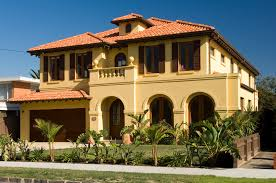 Tuscany Style Homes by Tuscan Style Home With Terracotta Roof And Arches Ravida
