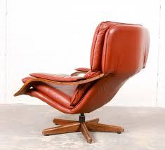 majestic mid century scandinavian swivel relax lounge chair 1960s