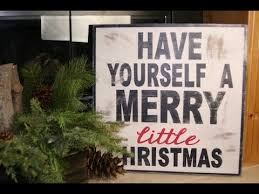 diy wooden christmas sign showmecute youtube