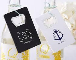 bottle opener wedding favors personalized credit card bottle opener favors