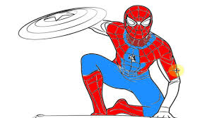 coloring for spiderman and captain america civil war youtube