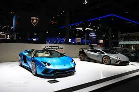 lamborghini 2018 aventador lamborghini aventador s roadster parades blu aegir color in