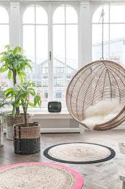 Modern Ball Chair Hk Living Hanging Chair Natural Round Living And Co