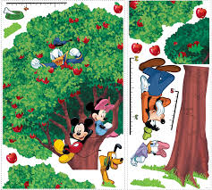 amazon com roommates rmk1514slm mickey and friends peel stick amazon com roommates rmk1514slm mickey and friends peel stick growth chart home improvement