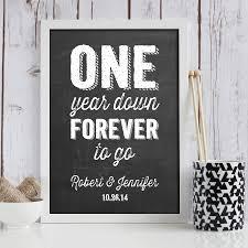 1 year anniversary gift ideas chalkboard one year anniversary gift 1 year anniversary