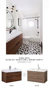kube bath single wall mount vanity for 860 vs ikea godmorgon