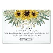 Wedding Reception Card Sunflower Watercolor Wedding Reception Card Zazzle Com