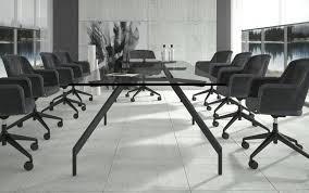 Black Boardroom Table Black Glass Boardroom Table Bonners Furniture