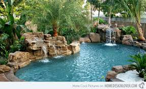 waterfalls for inground pools 15 pool waterfalls ideas for custom swimming pool designs with