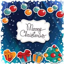 merry christmas vector art poster free vector in encapsulated