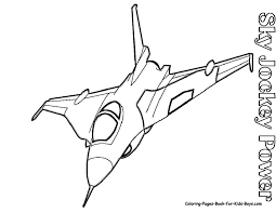 simple plane coloring pages airplane printable