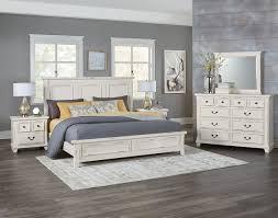 timber creek king mansion bed distressed white levin furniture