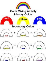 color mixing worksheet email me for pdf education pinterest