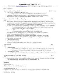 Chemistry Resume Example by Qc Chemist Resume Contegri Com