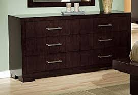 Bedroom Dresser Coaster Collection Cappuccino Finish Bedroom