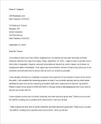 letter of resignation 51 examples in word pdf