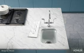 kohler essex kitchen faucet bar sink contemporary kitchen benjamin province blue