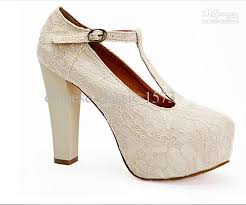 wedding shoes platform ivory lace wedding wedge t platform women waterproof shoes
