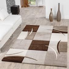 teppiche wohnzimmer teppich wohnzimmer modern palermo mit konturenschnitt in beige