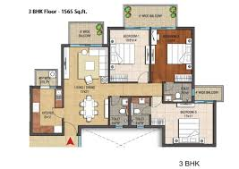 3 Bhk Apartment Floor Plan by Hero Homes Mohali Site Plan Floor Plans And Cluster Plan