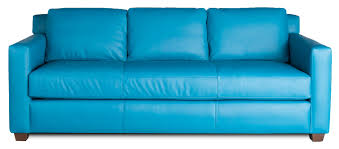 Blue Leather Sofa by Custom Leather Sofa Custom Leather Couch Atlanta