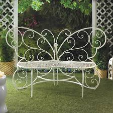 White Metal Outdoor Bench Metal Garden Bench Ebay
