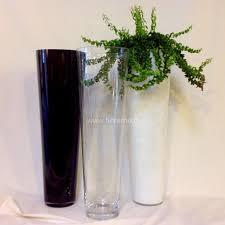 vasi in vetro economici vaso conico bm h070 d22 vetro fiorame