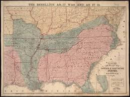 Map Of Usa During Civil War by Map Of Southeastern Portion Of United States Showing The Location