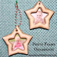 santa handprint ornaments