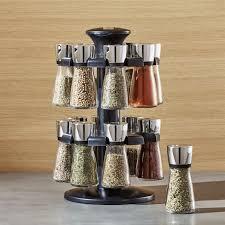 18 Jar Spice Rack 18 Jar Acacia Wood Spice Rack Crate And Barrel