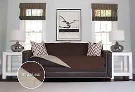 Slipcover For Leather Sofa by Leather Sofa Slip Cover Ebay