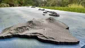 Blank Map Of Hawaiian Islands by Clad Copper Iron Bronze Hawaiian Island Sculpture Hawaii