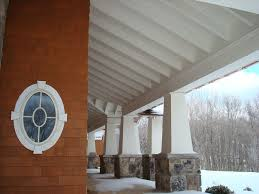 Covered Porch by Traditional Exterior Of Home With Painted Wood Ceiling By John