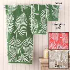 Bathroom Towel Sets by Tropical Leaf Bathroom Towel Set From Collections Etc