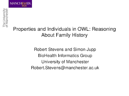 properties and individuals in owl reasoning about family history