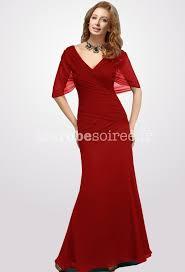 robe longue de soirã e pour mariage robe de soirée longue manche courte drapée pour mère de mairée