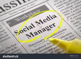 social media manager jobs newspaper job stock illustration