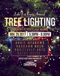 the annual christmas tree lighting ceremony at lake las vegas on