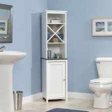Bathroom Tower Shelves Sauder Bath Caraway Collection Linen Tower Hayneedle